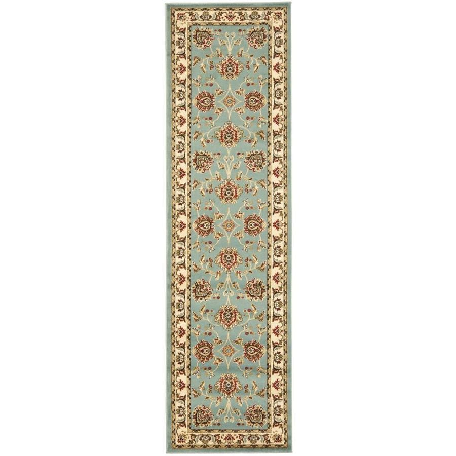 Safavieh Lyndhurst Sultanabad Blue/Ivory Indoor Oriental Runner (Common: 2 x 12; Actual: 2.25-ft W x 12-ft L)