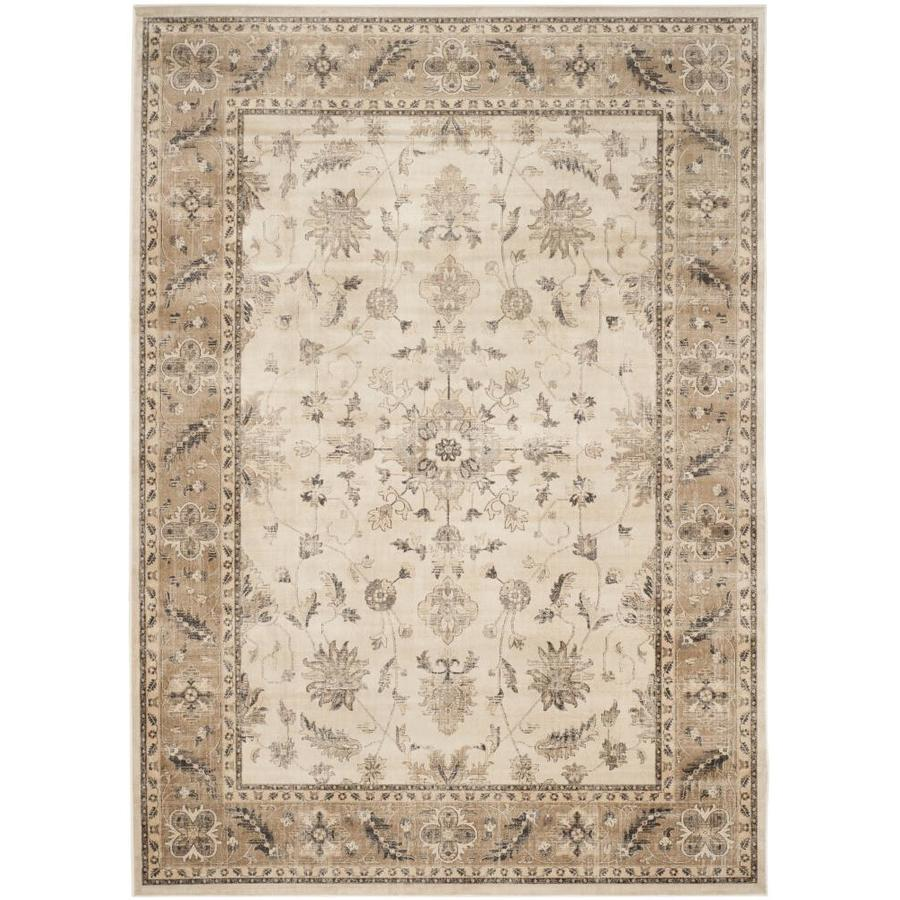 Safavieh Vintage Kashan Stone/Caramel Indoor Distressed Area Rug (Common: 7 x 9; Actual: 6.7-ft W x 9.2-ft L)