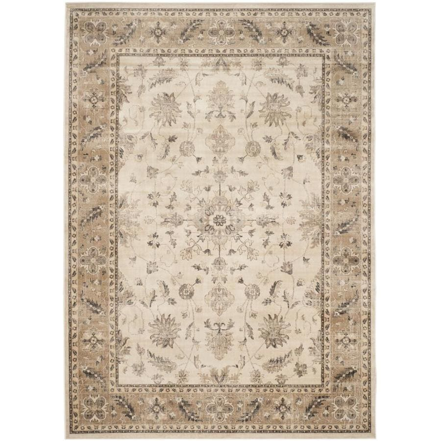 Safavieh Vintage Kashan Stone/Caramel Rectangular Indoor Machine-made Distressed Area Rug (Common: 8 x 11; Actual: 8-ft W x 11.2-ft L)