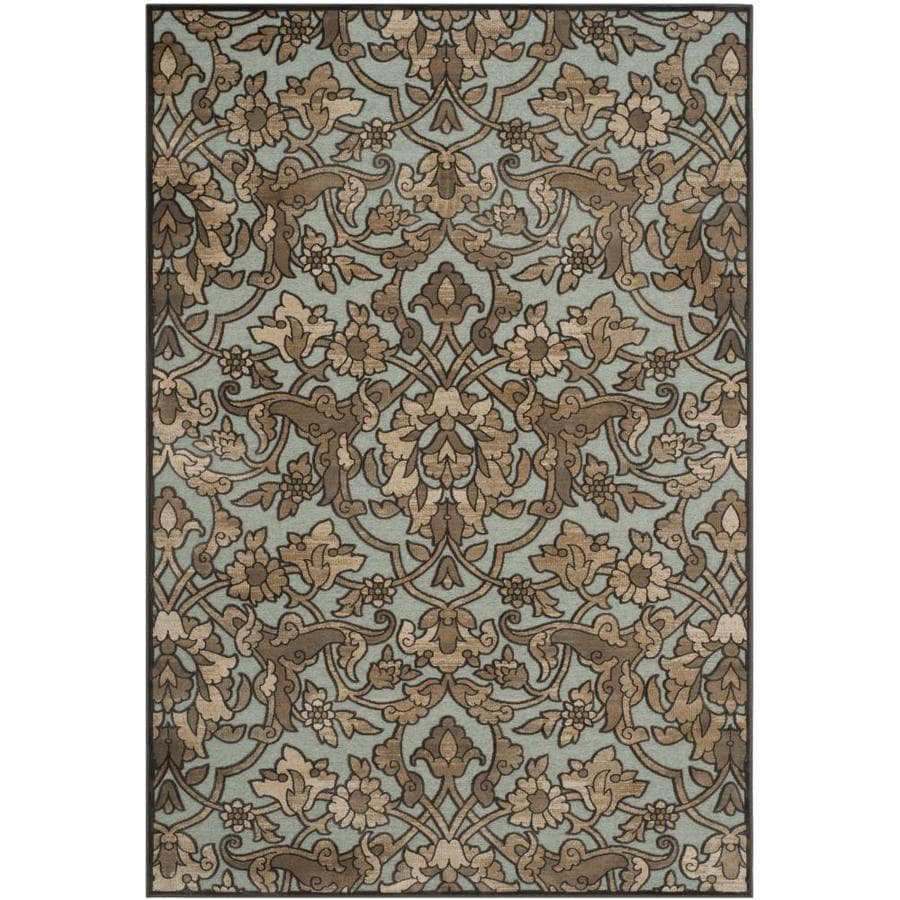 Safavieh Paradise Bethel Soft Anthracite/Anthracite Indoor Oriental Area Rug (Common: 5 x 8; Actual: 5.25-ft W x 7.5-ft L)
