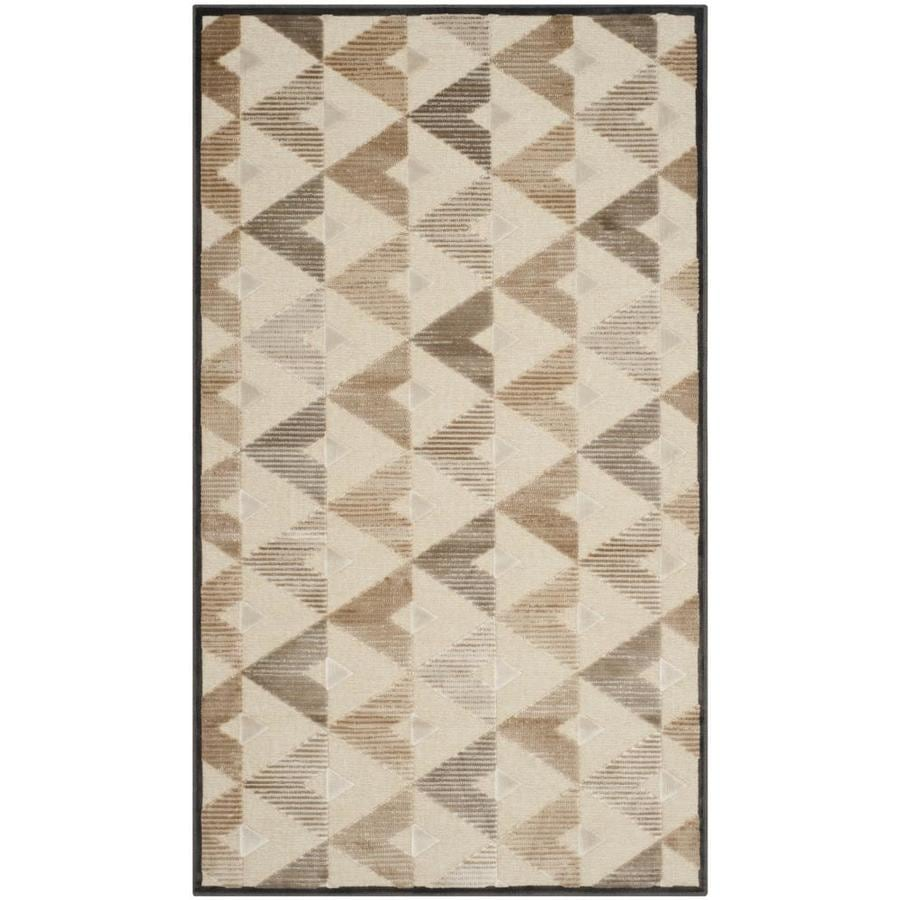 Safavieh Paradise Hartley Soft Anthracite/Cream Indoor Oriental Throw Rug (Common: 3 x 5; Actual: 3.25-ft W x 5.6-ft L)