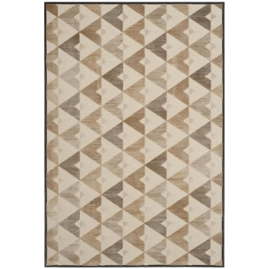 Safavieh Paradise Hartley Soft Anthracite/Cream Indoor Oriental Area Rug (Common: 5 x 8; Actual: 5.25-ft W x 7.5-ft L)