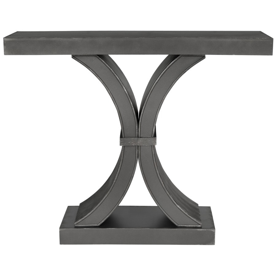 Safavieh Dryden Distressed Black Wood Casual Console Table