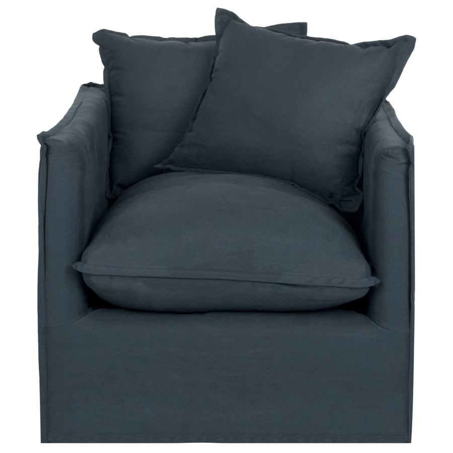 Safavieh Joey Modern Blue Linen Accent Chair