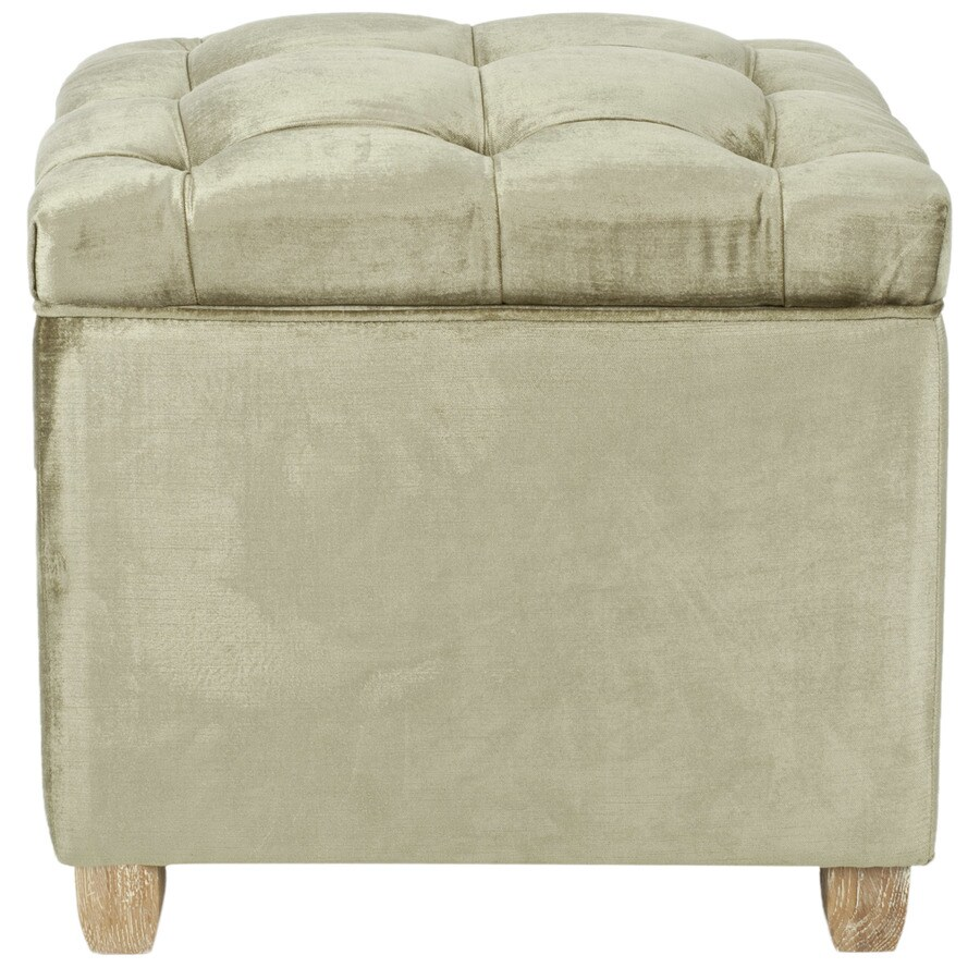 Safavieh Mercer Antique Sage Square Storage Ottoman