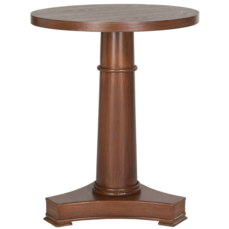 Safavieh American Home Brown Fir Round End Table