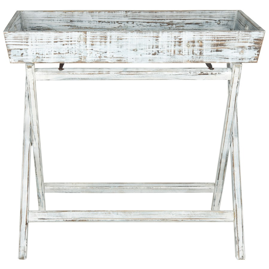 Safavieh American Home Weathered Blue Fir Rectangular End Table