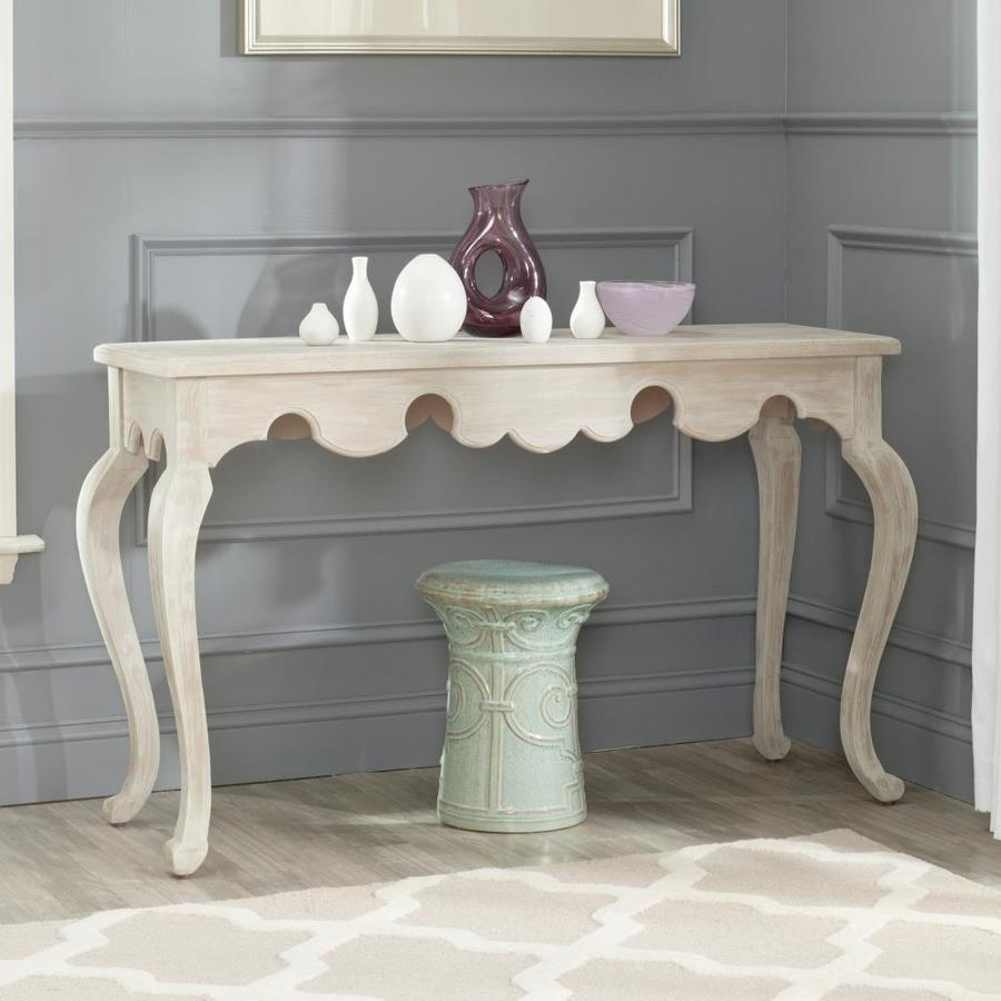 Safavieh Becky Distressed White Wood Casual Console Table