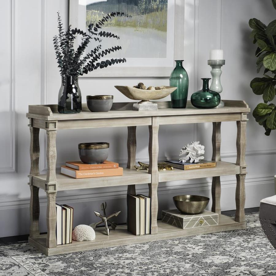 Safavieh Beauregard 35.0-in H x 60.0-in W x 15.0-in D Wood Freestanding Shelving Unit