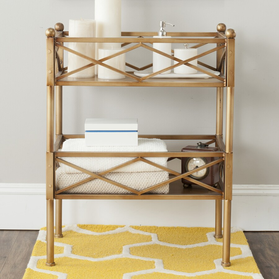Safavieh Jamese 31.5-in H x 24.5-in W x 14.5-in D Wood Freestanding Shelving Unit