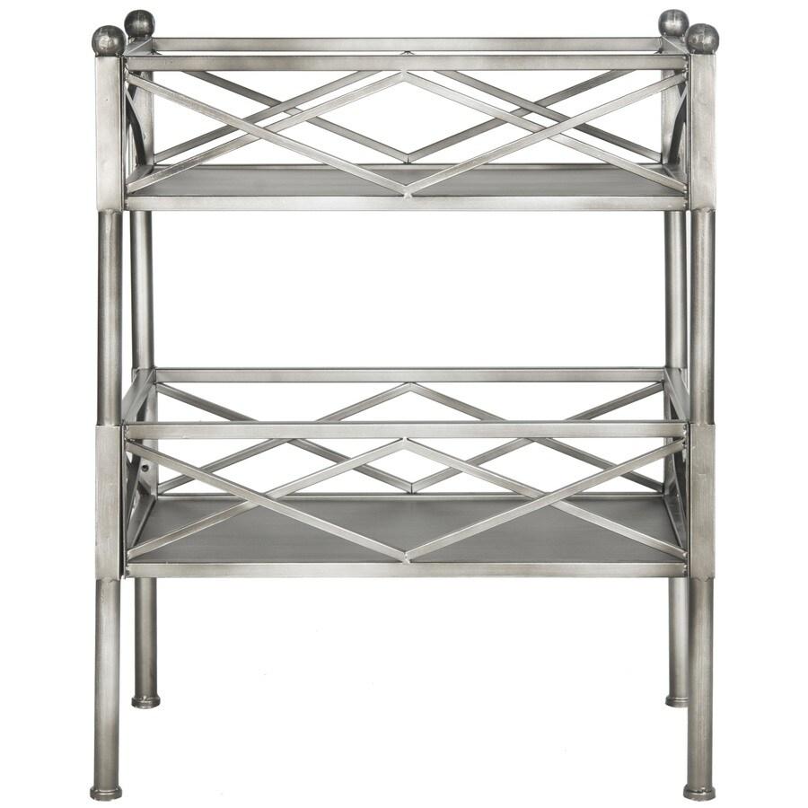 Safavieh 31.5-in H x 24.5-in W x 14.5-in D 2-Tier Metal Freestanding Shelving Unit