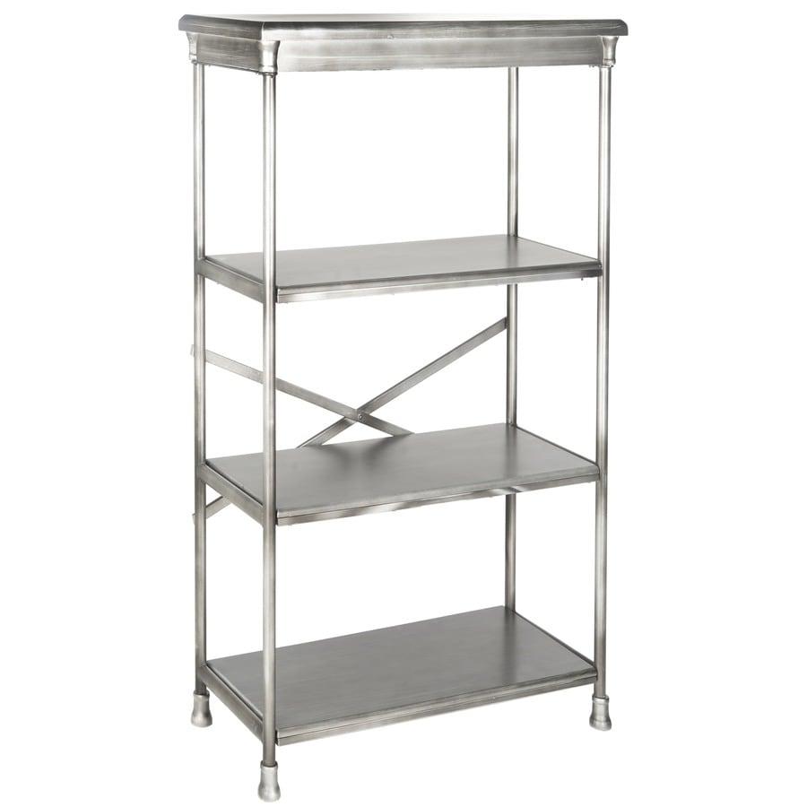 Safavieh Jacinda Dark Silver Metal 3 Shelf Bookcase In The Bookcases Department At Lowes Com