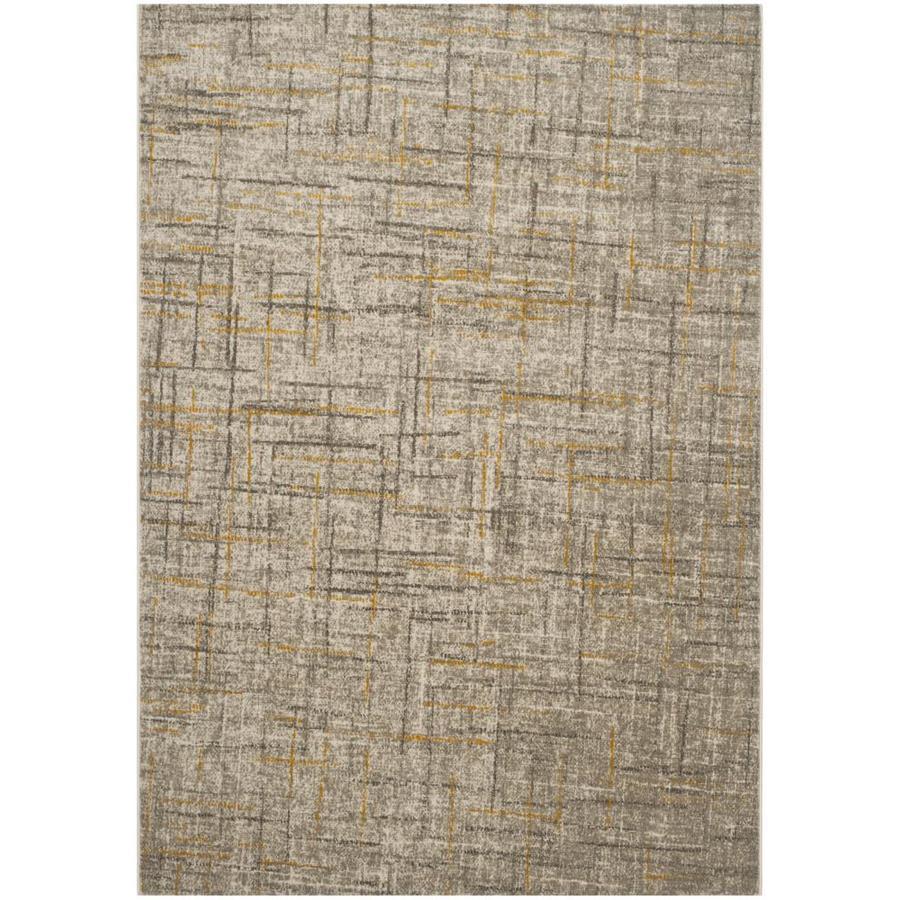 Safavieh Porcello Olivya Gray/Dark Gray Rectangular Indoor Machine-made Distressed Area Rug (Common: 5 x 7; Actual: 5.167-ft W x 7.5-ft L)