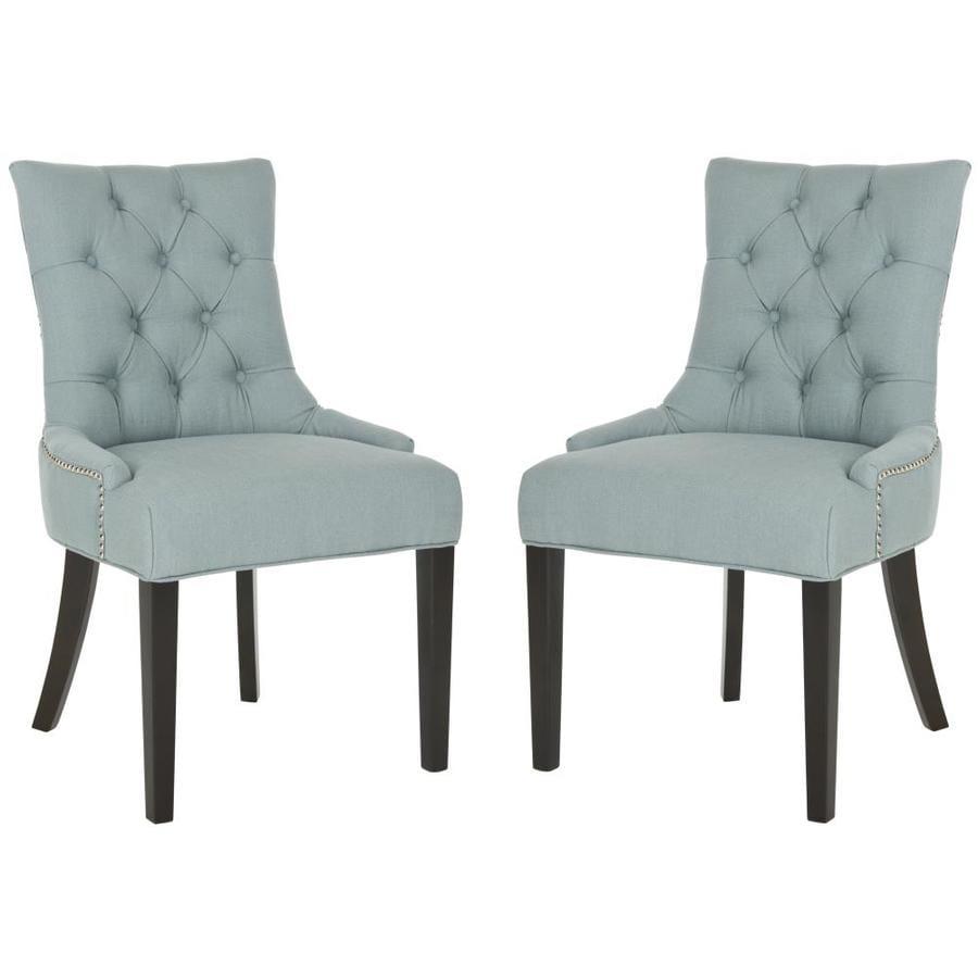 Safavieh Set of 2 Mercer Sky Blue Side Chairs