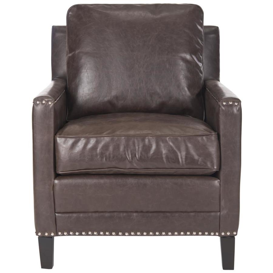 Safavieh Buckler Casual Brown Linen Accent Chair