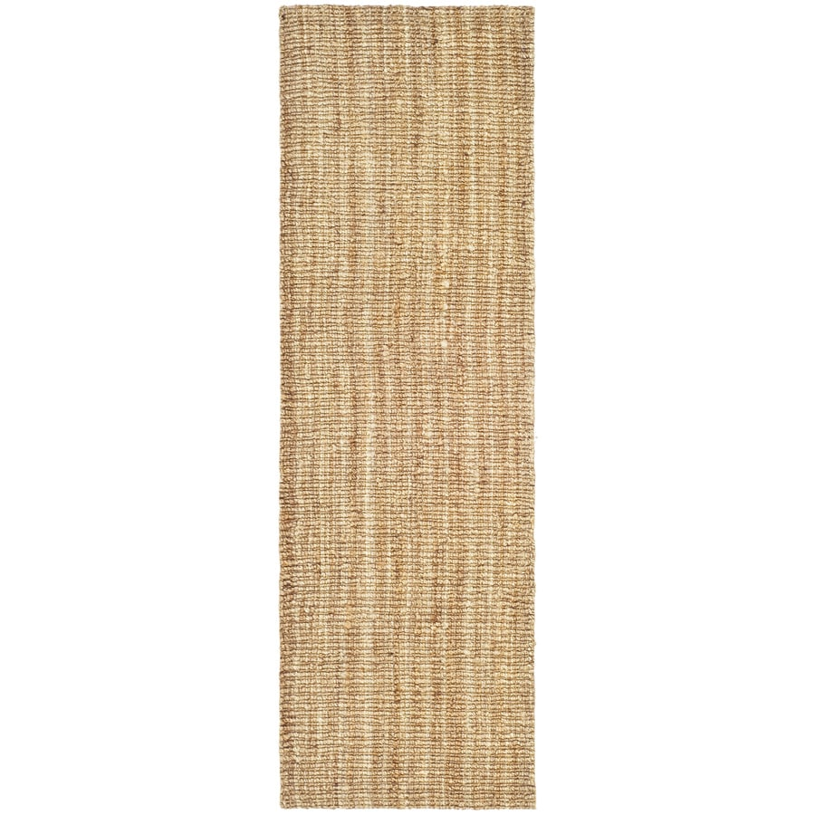 Safavieh Natural Fiber Bellport Natural Indoor Handcrafted Coastal Runner (Common: 2 x 10; Actual: 2-ft W x 10-ft L)