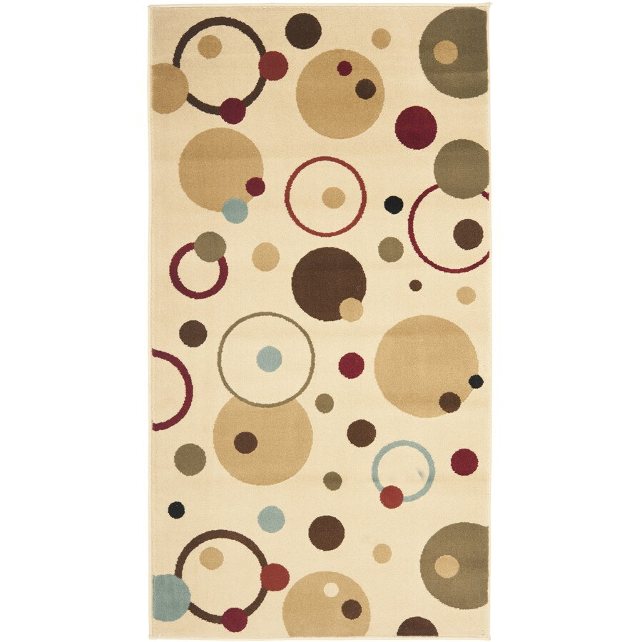 Safavieh Porcello Whimsy Ivory Indoor Throw Rug (Common: 2 x 3; Actual: 2-ft W x 3.6-ft L)