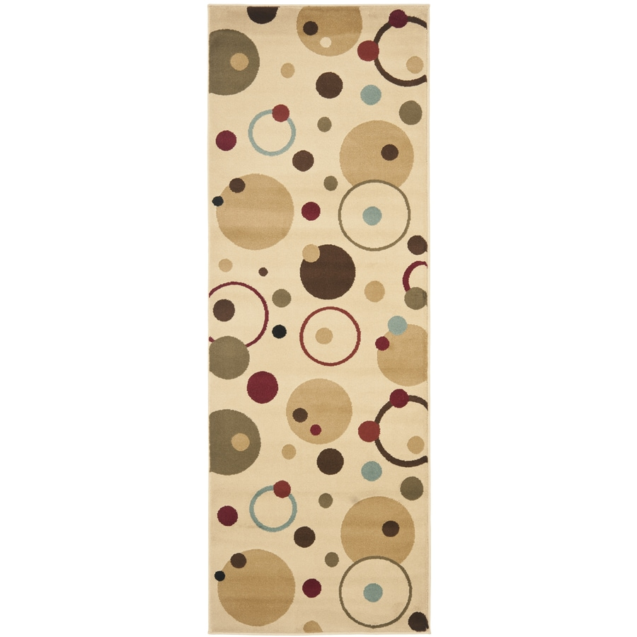 Safavieh Porcello Whimsy Ivory/Multi Rectangular Indoor Machine-made Runner (Common: 2 x 7; Actual: 2.33-ft W x 6.583-ft L)
