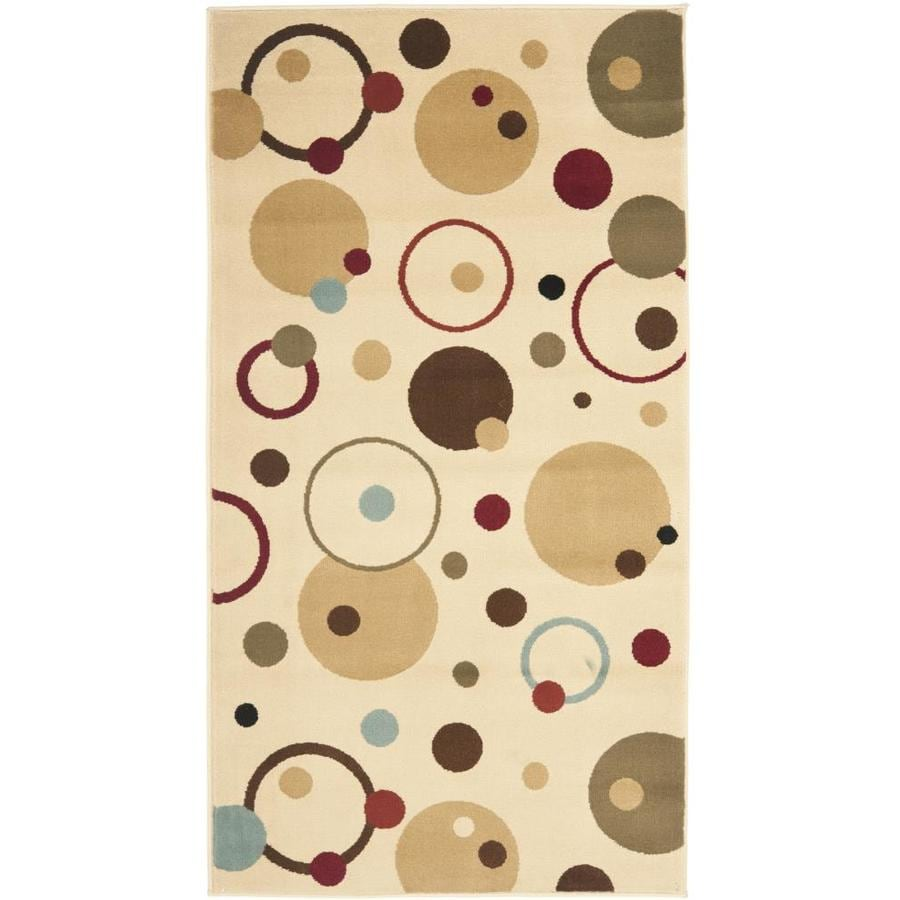 Safavieh Porcello Whimsy Ivory Indoor Throw Rug (Common: 3 x 5; Actual: 2.6-ft W x 5-ft L)