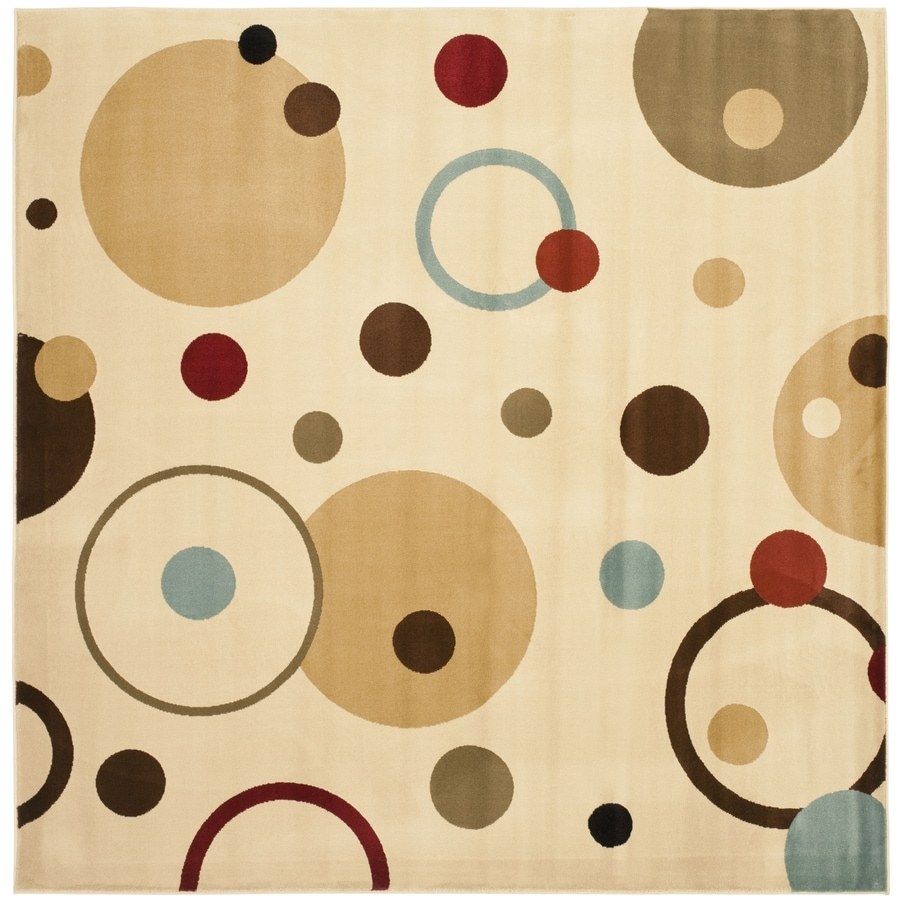 Safavieh Porcello Whimsy Ivory/Multi Rectangular Indoor Machine-made Area Rug (Common: 5 x 7; Actual: 5.25-ft W x 7.583-ft L)