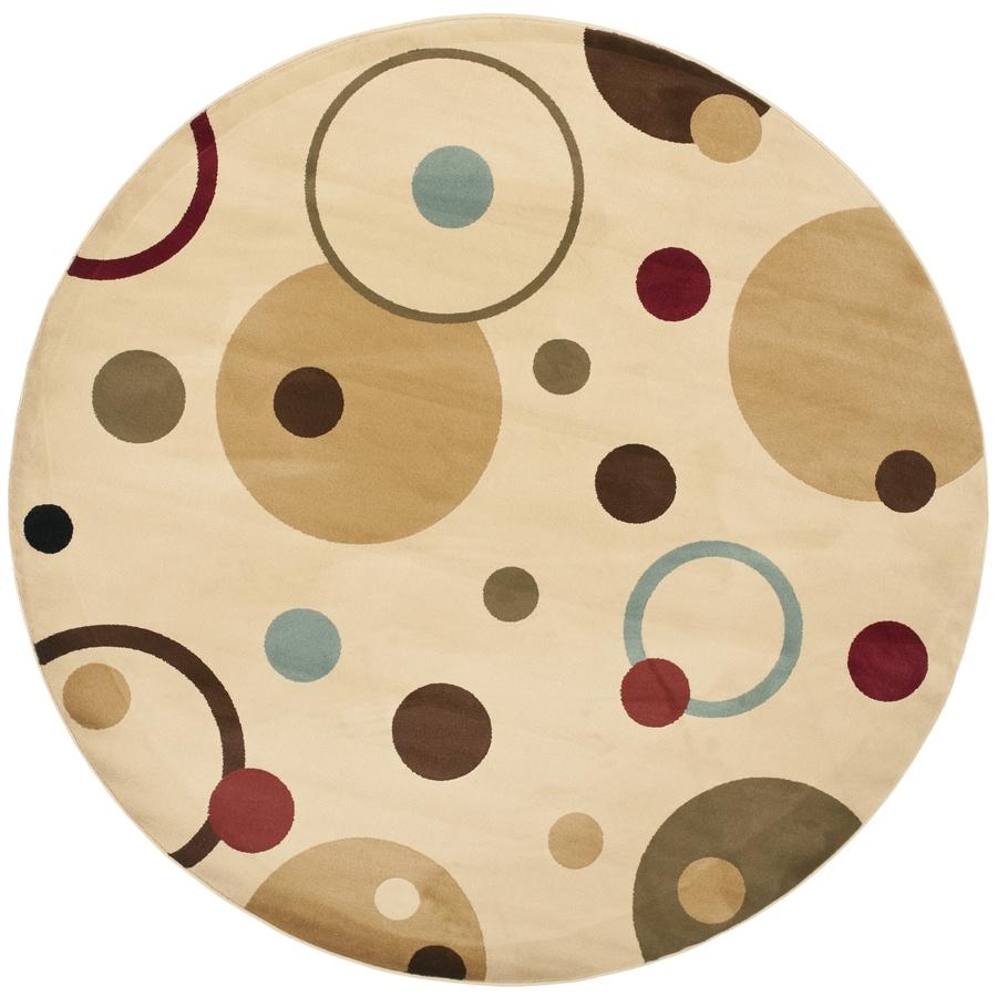 Safavieh Porcello Ivory/Multi Round Indoor Machine-Made Area Rug (Common: 7 x 7; Actual: 7-ft W x 7-ft L x 7-ft Dia)