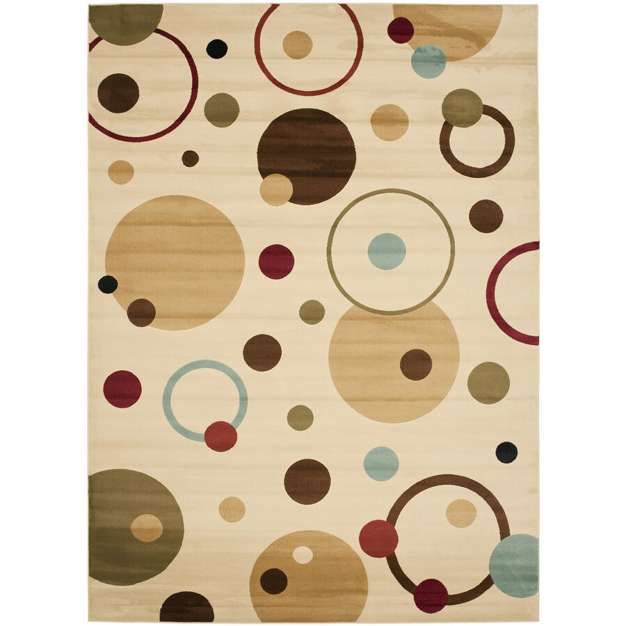 Safavieh Porcello Ivory and Multicolor Rectangular Indoor Machine-Made Area Rug (Common: 8 x 10; Actual: 96-in W x 134-in L x 0.92-ft Dia)