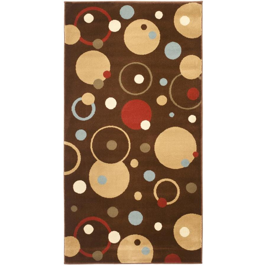 Safavieh Porcello Whimsy Brown Indoor Throw Rug (Common: 2 x 3; Actual: 2-ft W x 3.6-ft L)