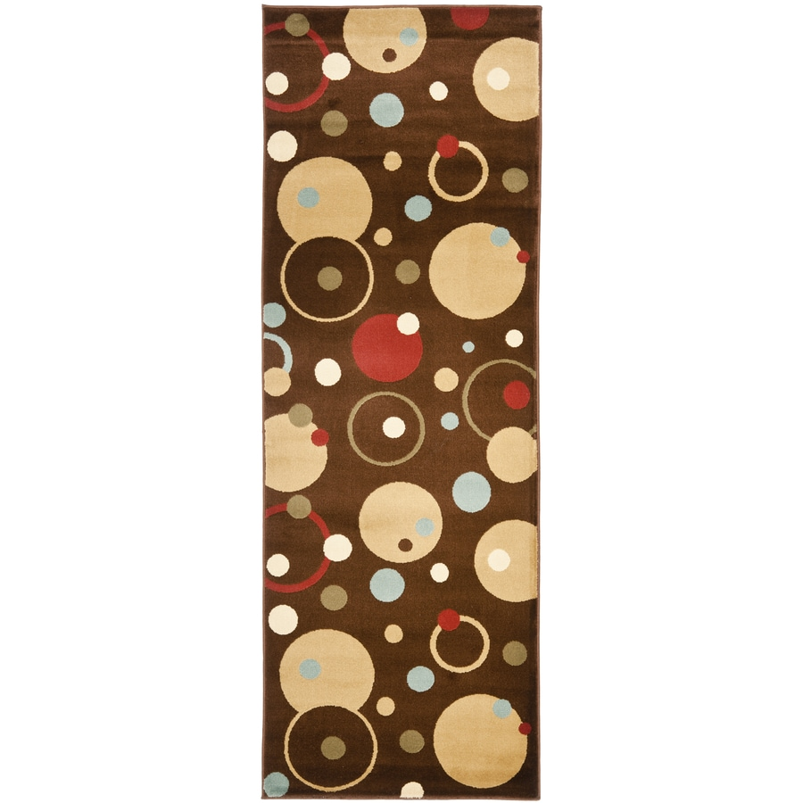 Safavieh Porcello Whimsy Brown/Multi Rectangular Indoor Machine-made Runner (Common: 2 x 9; Actual: 2.33-ft W x 9-ft L)