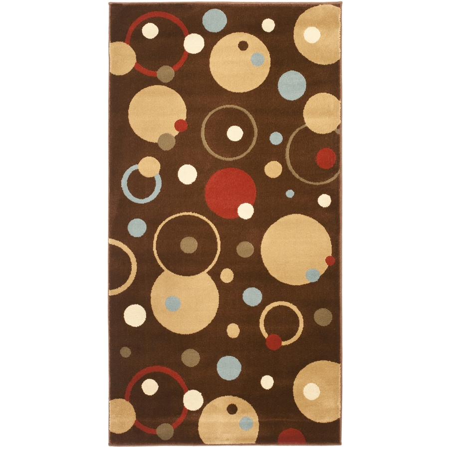 Safavieh Porcello Whimsy Brown Indoor Throw Rug (Common: 3 x 5; Actual: 2.6-ft W x 5-ft L)