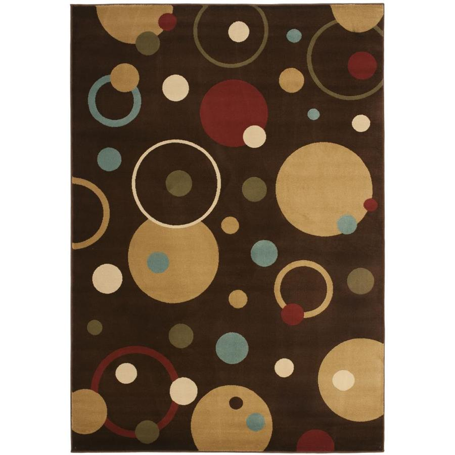 Safavieh Porcello Whimsy Brown Indoor Area Rug (Common: 5 x 8; Actual: 5.25-ft W x 7.6-ft L)