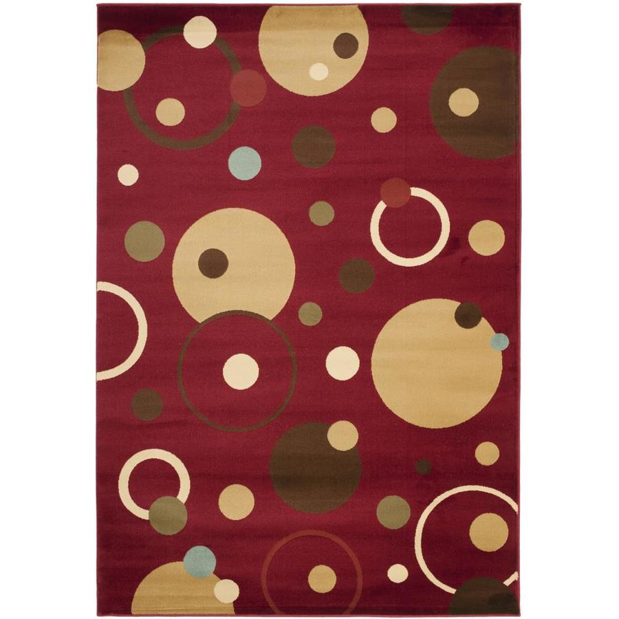 Safavieh Porcello Whimsy Red Rectangular Indoor Area Rug (Common: 5 x 7; Actual: 5.25-ft W x 7.583-ft L)