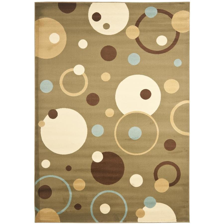 Safavieh Porcello Whimsy Green Indoor Area Rug (Common: 4 x 6; Actual: 4-ft W x 5.6-ft L)