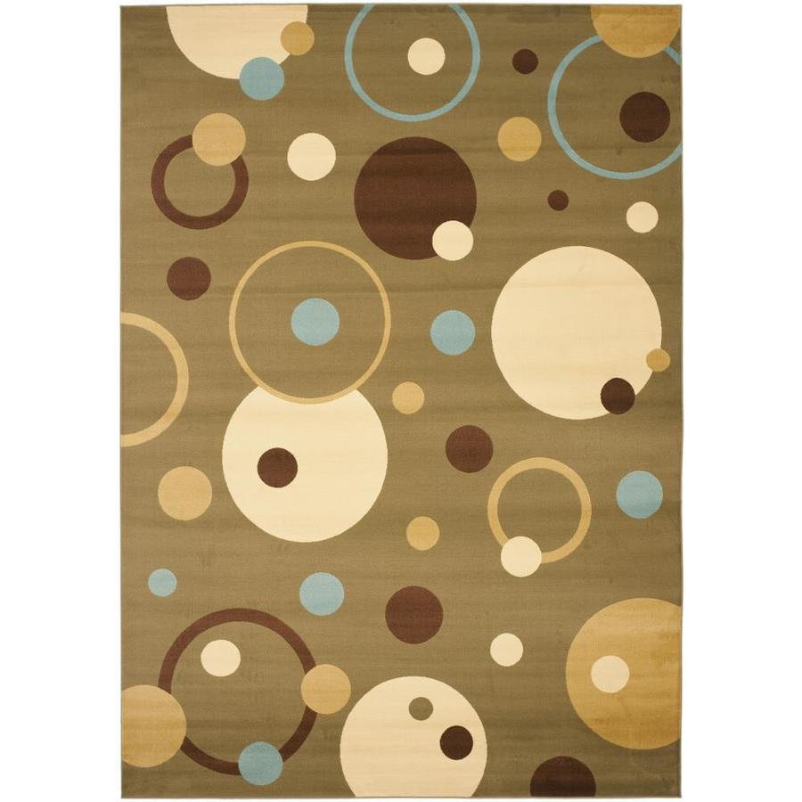 Safavieh Porcello Green and Multicolor Rectangular Indoor Machine-Made Area Rug (Common: 8 x 10; Actual: 96-in W x 134-in L x 0.92-ft Dia)
