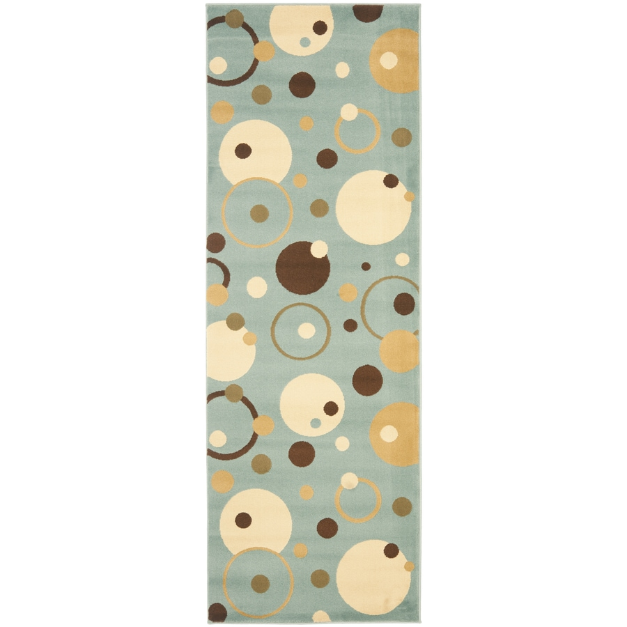 Safavieh Porcello Whimsy Blue/Multi Rectangular Indoor Machine-made Runner (Common: 2 x 7; Actual: 2.33-ft W x 6.583-ft L)