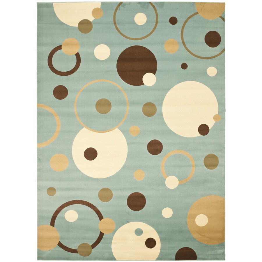 Safavieh Porcello Whimsy Blue Indoor Area Rug (Common: 4 x 6; Actual: 4-ft W x 5.6-ft L)