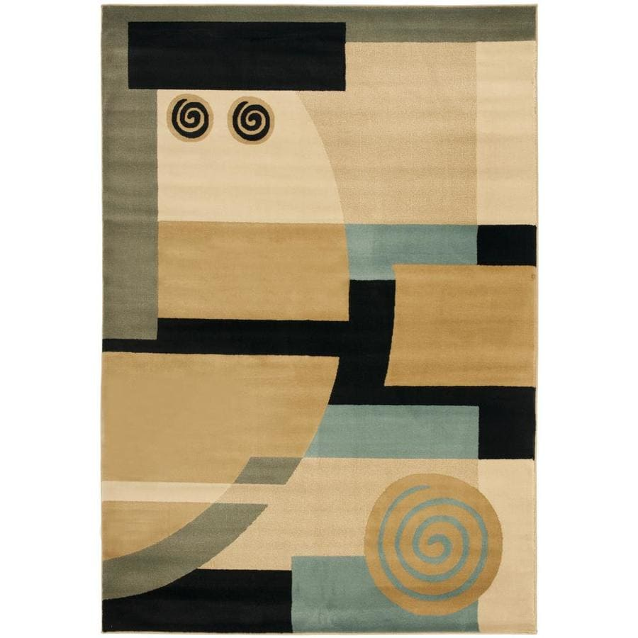 Safavieh Porcello Deco Black/Multi Rectangular Indoor Machine-made Area Rug (Common: 5 x 7; Actual: 5.25-ft W x 7.583-ft L)