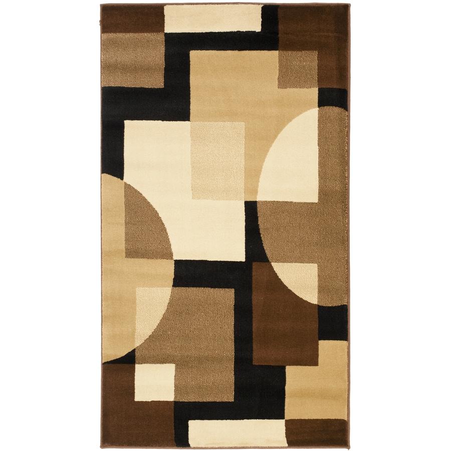 Safavieh Porcello Black/Multi Rectangular Indoor Machine-Made Throw Rug (Common: 2 x 5; Actual: 2.583-ft W x 5-ft L)
