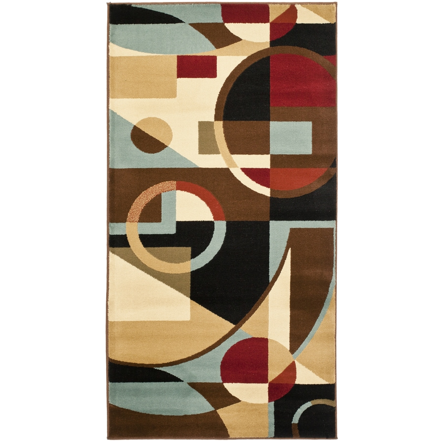 Safavieh Porcello Jackson Black Indoor Throw Rug (Common: 2 x 3; Actual: 2-ft W x 3.6-ft L)