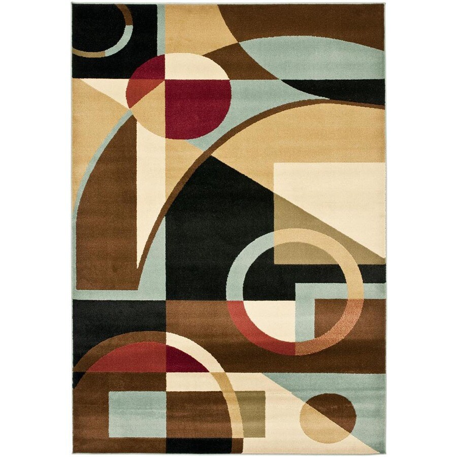 Safavieh Porcello Jackson Black/Multi Rectangular Indoor Machine-made Area Rug (Common: 6 x 9; Actual: 6.583-ft W x 9.5-ft L)