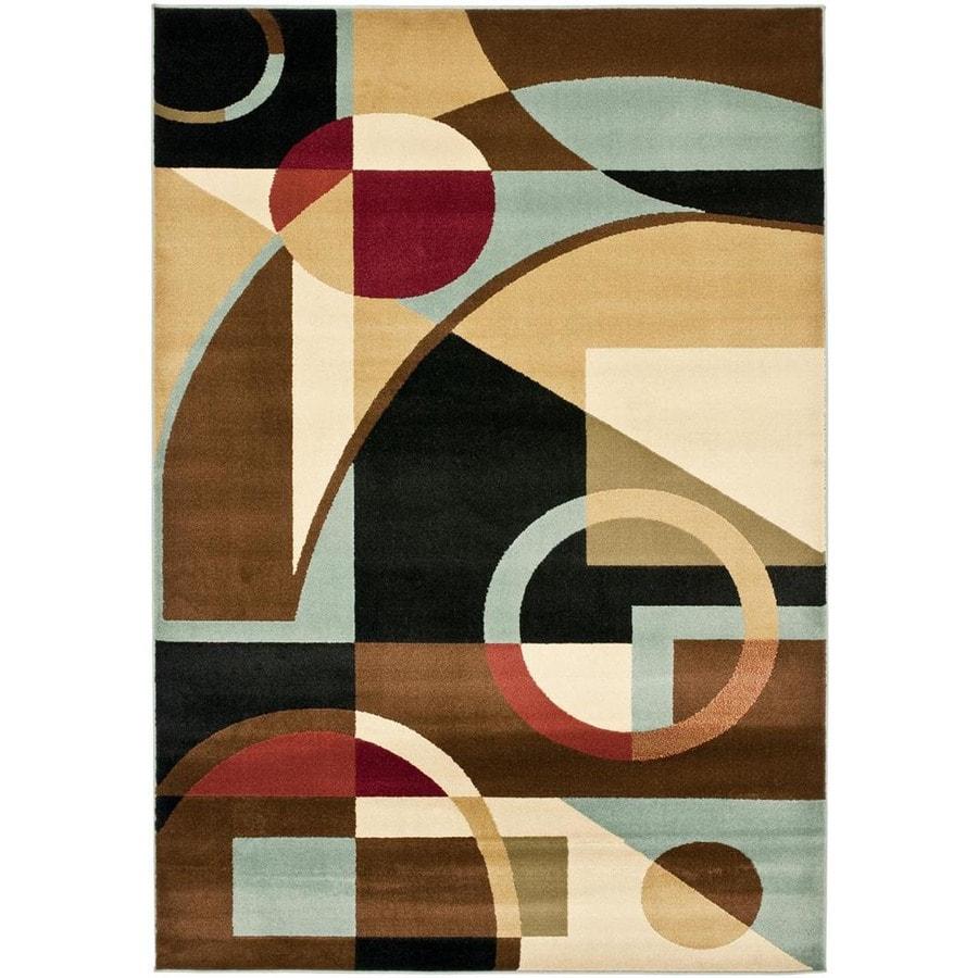 Safavieh Porcello Jackson Black/Multi Rectangular Indoor Machine-made Area Rug (Common: 8 x 11; Actual: 8-ft W x 11.167-ft L)