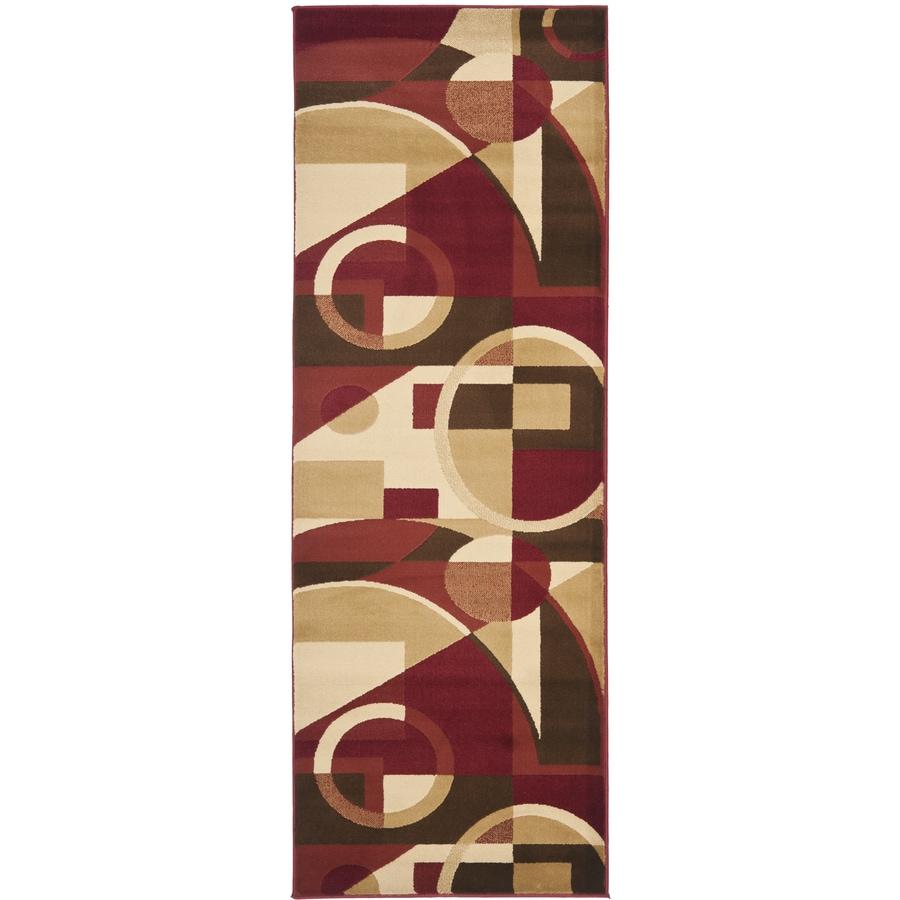 Safavieh Porcello Jackson Red/Multi Rectangular Indoor Machine-made Runner (Common: 2 x 7; Actual: 2.33-ft W x 6.583-ft L)