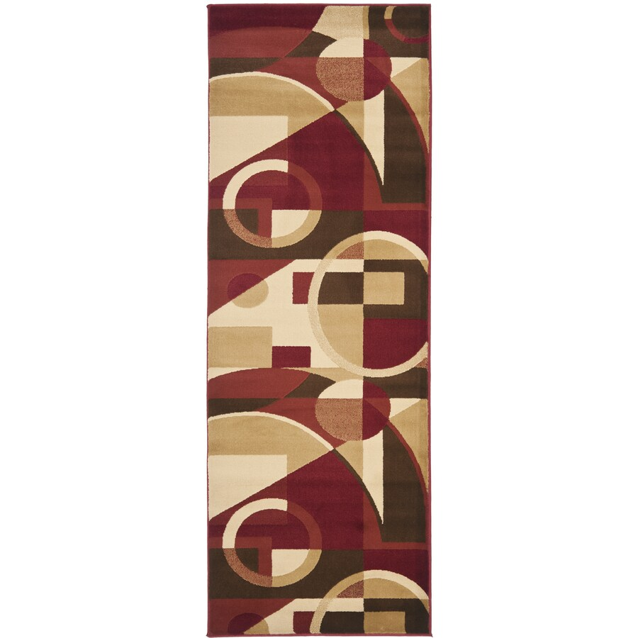 Safavieh Porcello Jackson Red Indoor Runner (Common: 2 x 9; Actual: 2.3-ft W x 9-ft L)