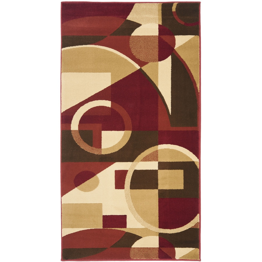 Safavieh Porcello Jackson Red/Multi Rectangular Indoor Machine-made Throw Rug (Common: 3 x 5; Actual: 2.583-ft W x 5-ft L)
