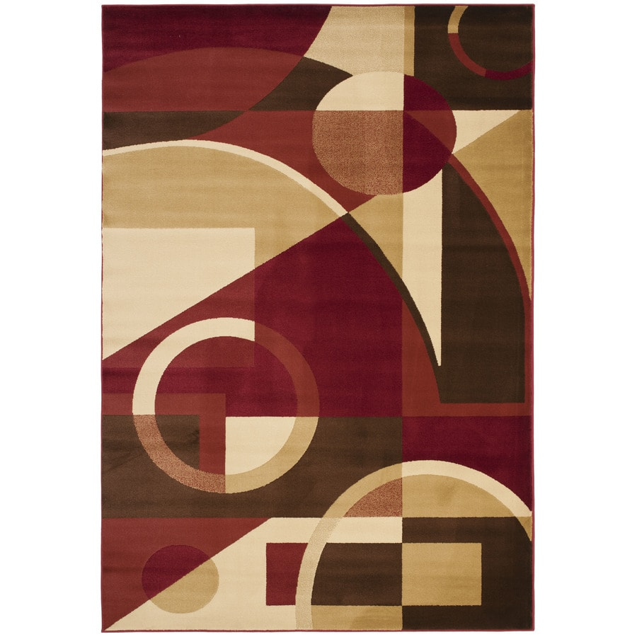 Safavieh Porcello Jackson Red/Multi Rectangular Indoor Machine-made Area Rug (Common: 5 x 7; Actual: 5.25-ft W x 7.583-ft L)