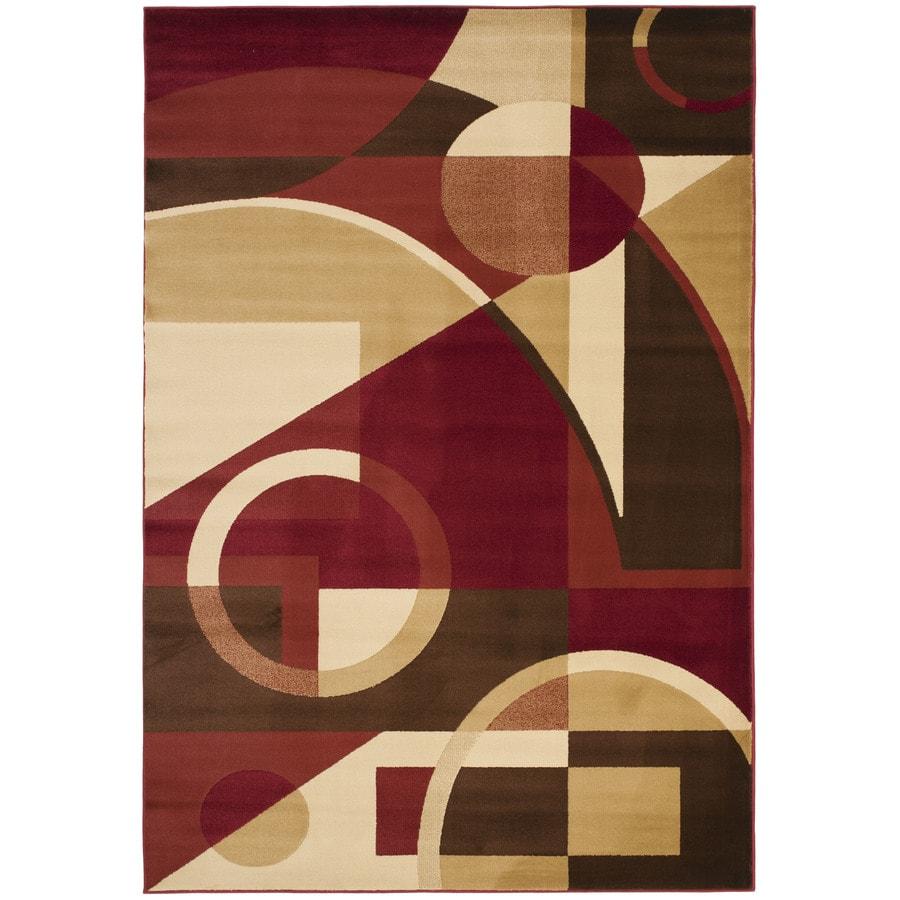 Safavieh Porcello Jackson Red Indoor Area Rug (Common: 5 x 8; Actual: 5.25-ft W x 7.6-ft L)