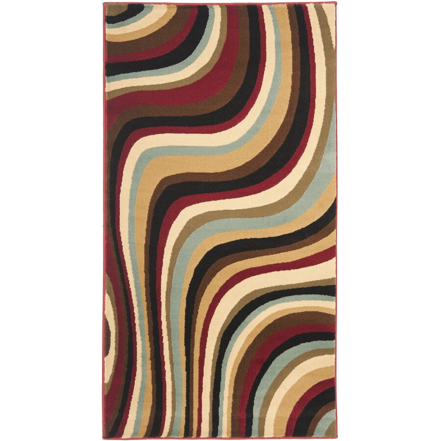 Safavieh Porcello Red/Multi Rectangular Indoor Machine-Made Throw Rug (Common: 2 x 3; Actual: 2-ft W x 3.583-ft L)