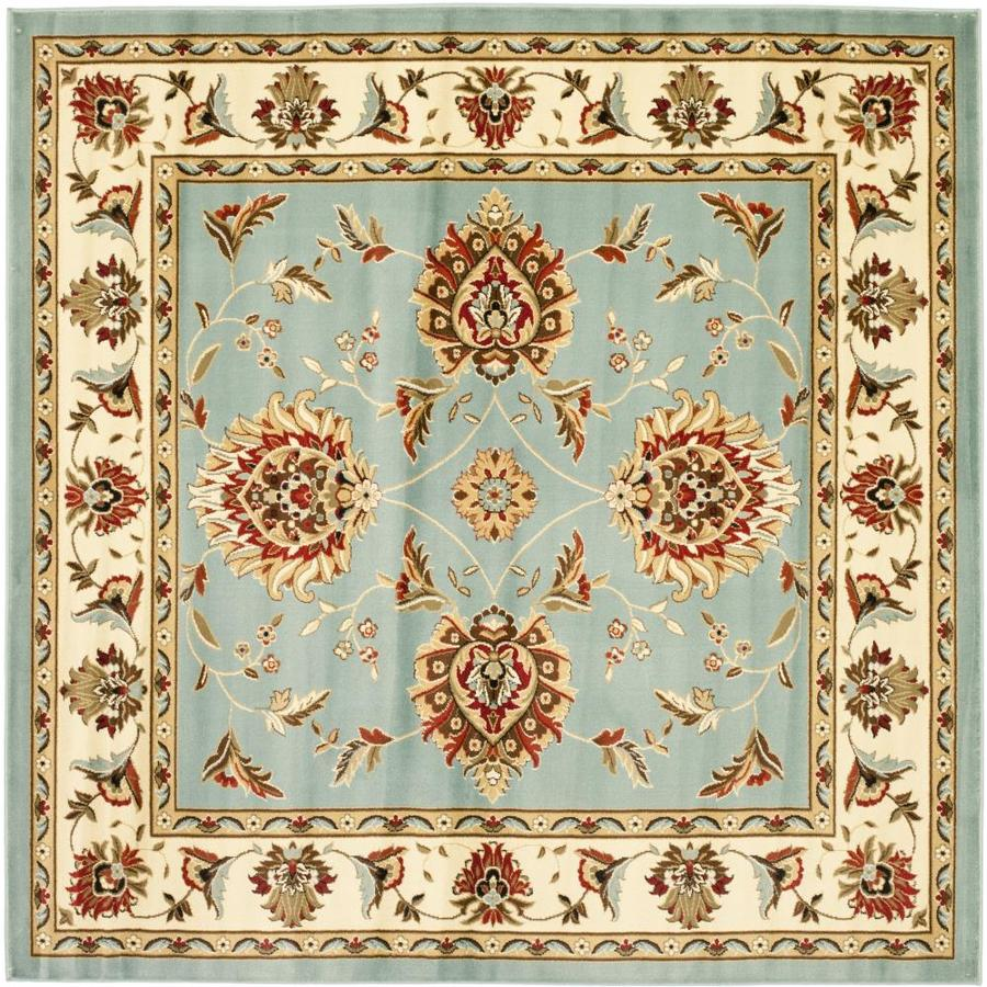 Safavieh Lyndhurst Sultanabad Blue/Ivory Square Indoor Machine-made Oriental Area Rug (Common: 6 x 6; Actual: 6.583-ft W x 6.583-ft L)