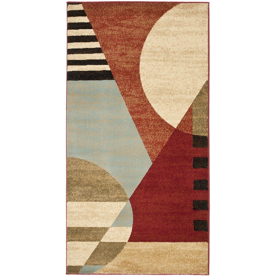 Safavieh Porcello Wright Multi Rectangular Indoor Machine-made Throw Rug (Common: 3 x 5; Actual: 2.583-ft W x 5-ft L)