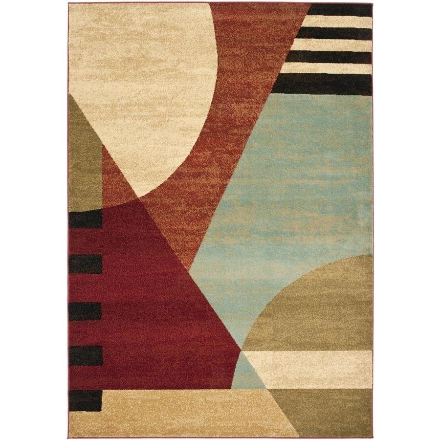 Safavieh Porcello Multicolor Rectangular Indoor Machine-Made Area Rug (Common: 8 x 10; Actual: 96-in W x 134-in L x 0.92-ft Dia)