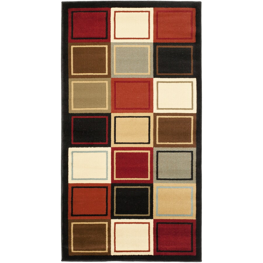 Safavieh Porcello Mia Multi Rectangular Indoor Machine-made Throw Rug (Common: 2 x 3; Actual: 2-ft W x 3.583-ft L)